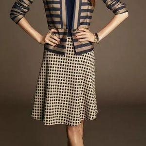 Ann Taylor Polka Dot A-line Skirt Size 2